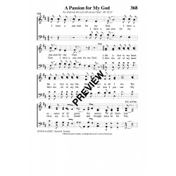 A Passion for My God - PDF Sheet Music