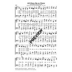 All Glory Be to Christ - PDF Sheet Music