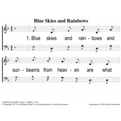 Blue Skies and Rainbows PPT
