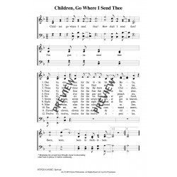 Children Go Where I Send Thee-PDF Song Sheet