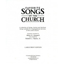 Favorite Songs of the Church Large Print