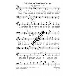 Guide Me O Thou Great Jehovah-Rhondda-PDF Sheet Music