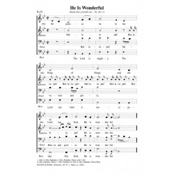 He is Wonderful - PDF Song Sheet
