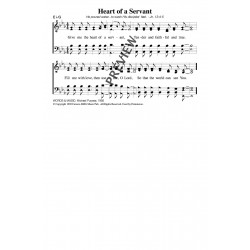 Give Me the Heart of a Servant-PDF Song Sheet