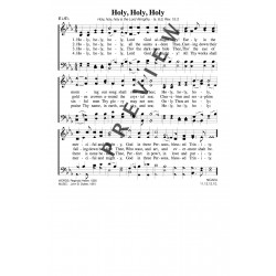 Holy Holy Holy - PDF song sheet