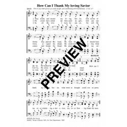 How Can I Thank My loving Savior-PDF Song Sheet