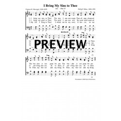 I Bring My Sins to Thee - PDF Song Sheet