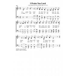 I Praise Your Lord - PDF Song Sheet