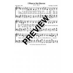 I Want to See Heaven - PDF Song Sheet