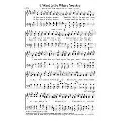 I Want to Be Where You Are-PDF Song sheet