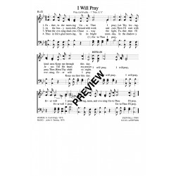 I Will Pray - PDF SHEET MUSIC