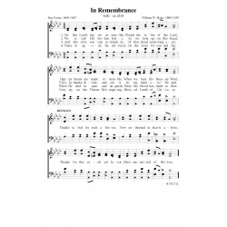 In Remembrance PDF Song Sheet
