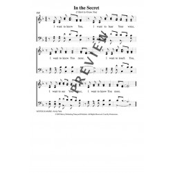In the Secret-I Want to Know You-PDF Song Sheet