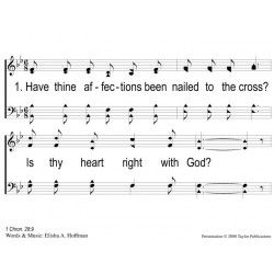 Is Thy Heart Right With God PPT - Slides