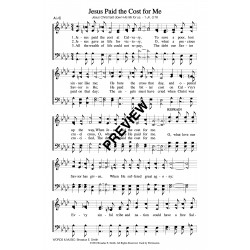 Jesus Paid the Cost - PDF Sheet Music