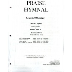 Praise Hymnal 2020 Large Print Conventional note