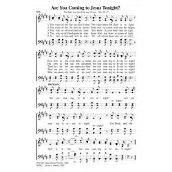 Are You Coming to Jesus Tonight-PDF Song Sheet