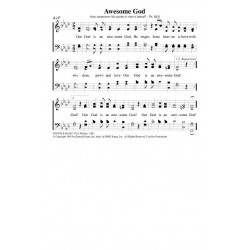 Awesome God - PDF Song Sheet
