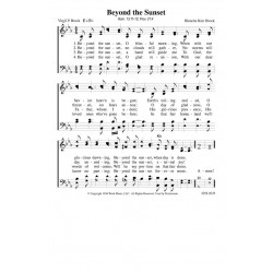 Beyond the Sunset - Brock - PDF Song Sheet