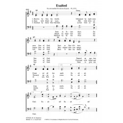 Exalted - PDF Song Sheet