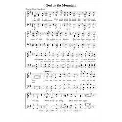 God On the Mountain - PDF Song Sheet