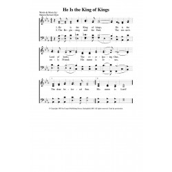 He is the King of kings - PDF SONG SHEET