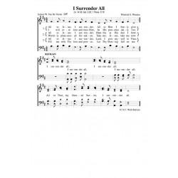I Surrender All - PDF Song Sheet