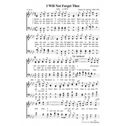 I Will Not Forget Thee - PDF - Song Sheet