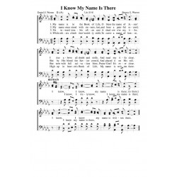 I Know My Name is There - PDF Song Sheet