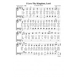 I Love Thy Kingdom Lord - PDF Song Sheet