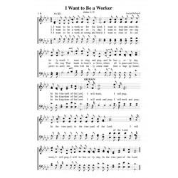 I Want to Be a Worker - PDF Song Sheet