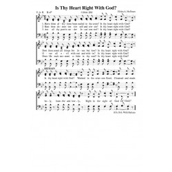 Is Thy Heart Right With God - PDF Song Sheet