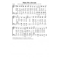 Make Me a Servant - PDF Song Sheet