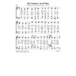 My Country Tis of Thee - PDF Song Sheet