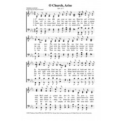 O Church Arise - PDF Song Sheet