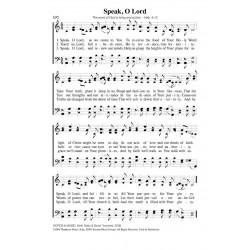 Speak O Lord - PDF Song Sheet