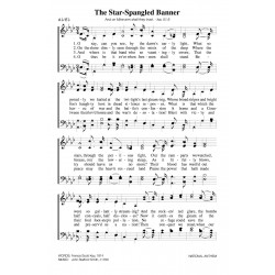The Star Spangled Banner - four verses PDF Song Sheet