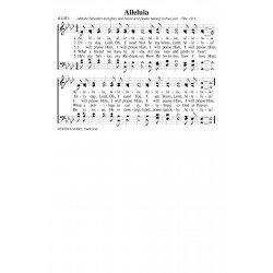 Alleluia - PDF Song Sheet