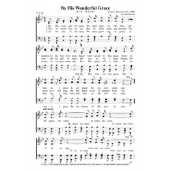 By His Wonderful Grace - PDF Song Sheet