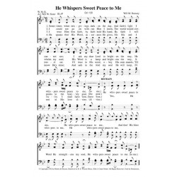 He Whispers Sweet Peace - PDF Song Sheet