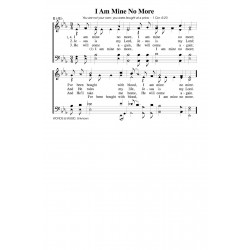 I Am Mine No More-PDF Song Sheet