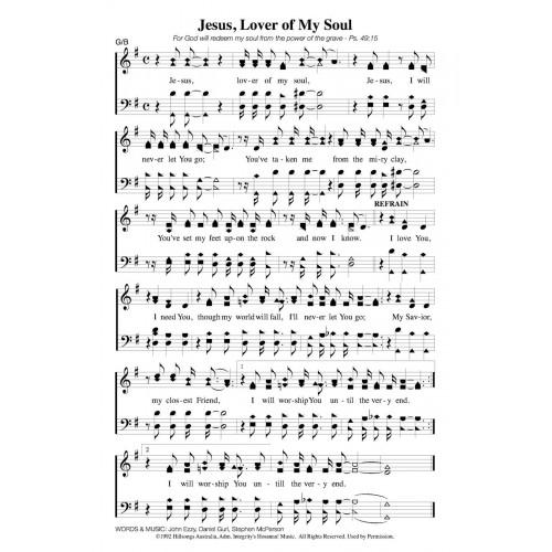 Jesus Lover Of My Soul Hillsong Pdf Song Sheet