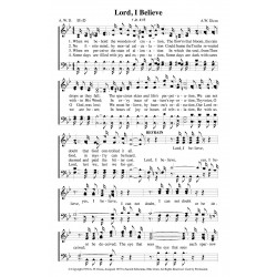 Lord I Believe - PDF Song Sheet