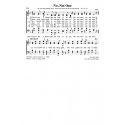 No Not One-PDF Song Sheet