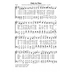 Only in Thee-PDF Song Sheet