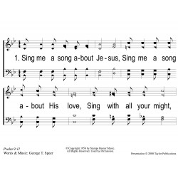 Sing Me a Song About Jesus-PPT Slides