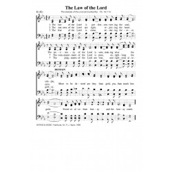The Law of the Lord - PDF Song Sheet