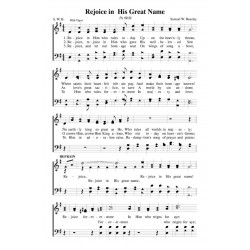 Rejoice in His Great Name - PDF Song Sheet