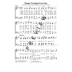 Simple Trusting Every Day - PDF Song Sheet