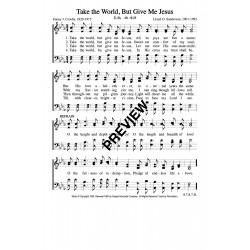 Take the World but Give me Jesus-PDF Sheet Music